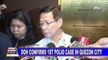 DOH confirms 1st polio case in Quezon City