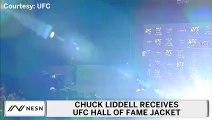 Chuck Liddell Receives UFC Hall Of Fame Jacket