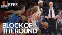 Efes Block of the Round: Lorenzo Brown, Crvena Zvezda mts Belgrade