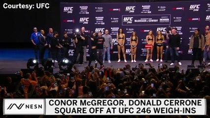 Conor McGregor, Donald Cerrone Square Off At UFC 246 Weigh-Ins