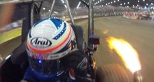 Ride with Justin Allgaier in his Friday night Chili Bowl heat race