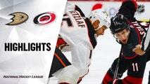 NHL Highlights   Ducks @ Hurricanes 01/17/20