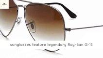 Ray-Ban RB3025 Large Metal Aviator Sunglasses - ray-ban aviator collection