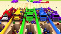 Learn Colors with Street Vehicle and Flying Toy Car Magic Slide Pretend Play for Kids