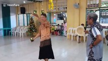 Touching moment grandmother dances for care home residents