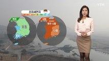 [날씨] 내일 전국 흐린 가운데 고농도 미세먼지 / YTN