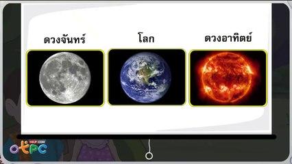สื่อการเรียนการสอน ดวงจันทร์ป.1วิทยาศาสตร์