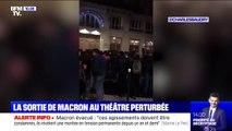 La sortie d'Emmanuel Macron au théâtre perturbée, le président évacué