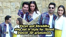 Varun and Shraddha step out in style for 'Street Dancer 3D' promotions