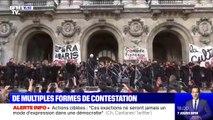Concert devant l'Opéra Garnier: les musiciens et chanteurs reprennent la Marseillaise