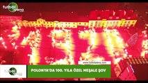 Polonya'da 100. yıla özel meşale şov