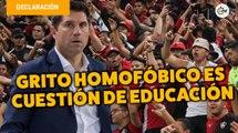 Grito homofóbico es cuestión de educación: Leandro Cufré   Conferencia