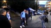 Lazio, l'uscita dei giocatori dallo stadio