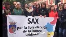 """Concentraciones de Hablamos Español """"contra la imposición del valenciano""""."""