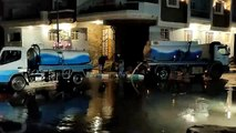 عمليات إزالة المياه من شوارع مطروح بعد يوم أمطار غزيرة