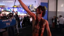 Extintion rebellion dà visibilità al salone dell'auto di Bruxelles