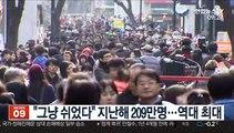 """""""그냥 쉬었다"""" 지난해 209만명…역대 최대"""