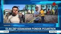 Polisi Olah TKP Kebakaran Ponpes Al Ikhlas Lampoko Polewali Mandar