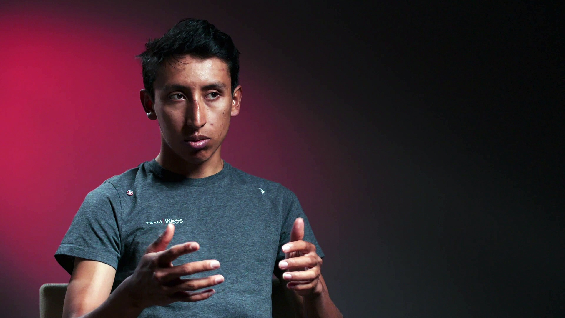 """Egan Bernal : """"It will be something special to have the number one in the Tour de France and to try to go for the GC again"""""""
