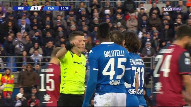 Balotelli expulsé après une grossière faute