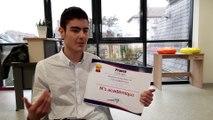 Tom, meilleur élève-vendeur de l'académie de Strasbourg
