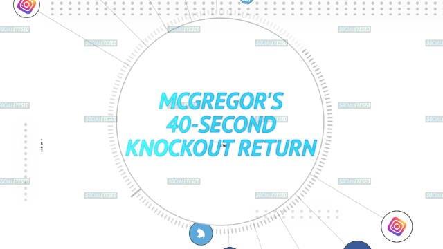 Socialeyesed - McGregor'S 40-second knockout return