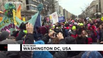 Thousands of women march against Trump in Washington