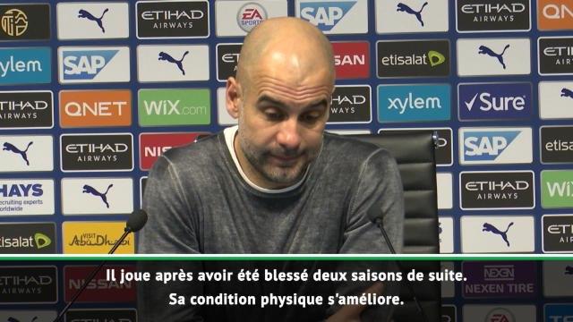 """23e j. - Guardiola : """"Mendy ? Sa condition physique s'améliore"""""""
