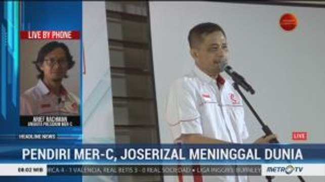 Pendiri MER-C Joserizal Jurnalis Meninggal Dunia