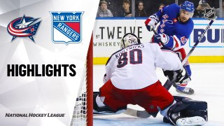 New York Rangers vs. Columbus Blue Jackets - Game Highlights