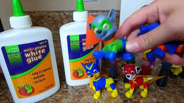 Paw Patrol Super Heroes Pup Toys Make SLIME Putty Surprise Chase Marshall Rocky Rubble Skye Toys-
