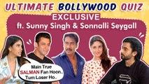 Sunny Singh, Sonnalli Seygall Ultimate BOLLYWOOD Quiz | Jai Mummy Di | EXCLUSIVE