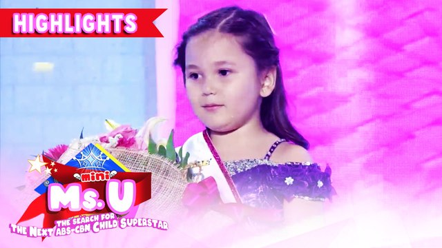 Kaayla Goleman is crowned as Mini Ms U of the Day | It's Showtime Mini Miss U