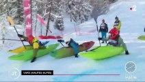 Le kayak sur neige, le sport à sensation de l'hiver
