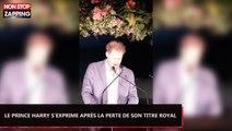 Meghan et Harry : Le prince s'exprime sur la perte de leur titre royal (Vidéo)