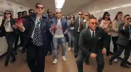 Le show des agents RATP de la ligne 13 pour le concert de Maitre Gims