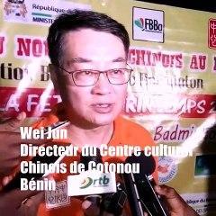 Prestations des Athlètes béninois du Badminton  : Appréciations du Directeur du Centre culturel chinois