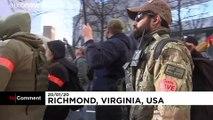 """شاهد: مسيرة لآلاف """"المسلحين"""" الأمريكيين ضد مكافحة حيازة الأسلحة"""