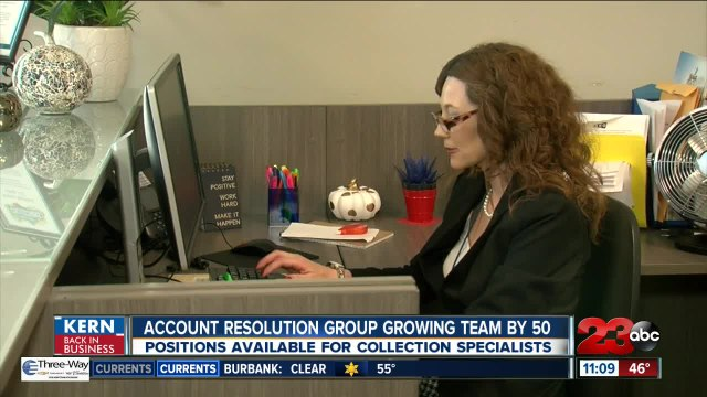 Kern Back in Business: Account Resolution Group growing team by 50