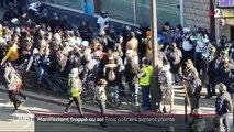 Manifestant frappé au sol : trois policiers portent plainte
