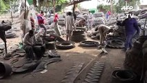 Egypt village turns a profit on used tyres