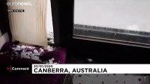 Riesige Hagelkörner in Canberra: Verbeulte Autos, beschädigte Gebäude