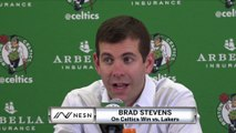 Brad Stevens On Celtics Blowout Win vs. Lakers
