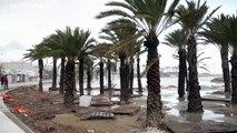 Playas destrozadas en Valencia tras el paso de la borrasca Gloria