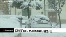 Le nord-est de l'Espagne paralysé par la tempête Gloria