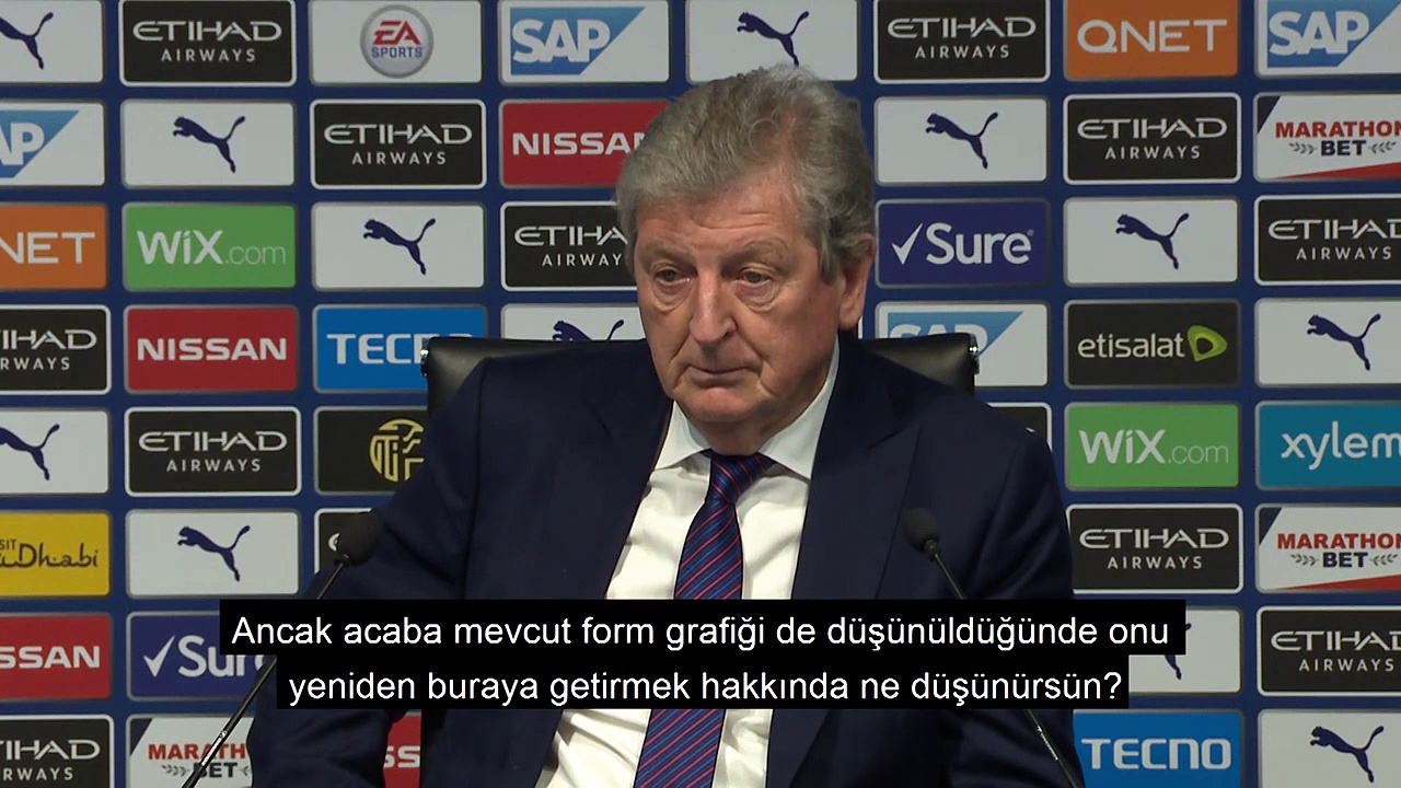 Roy Hodgson Basın Toplantısı | Türkçe Altyazılı