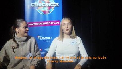 #Erasmusdays 2019 Témoignages de mobilités