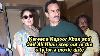 Kareena Kapoor Khan and Saif Ali Khan step out in the city for a movie date
