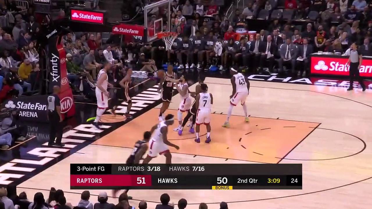 Toronto Raptors 122 - 117 Atlanta Hawks
