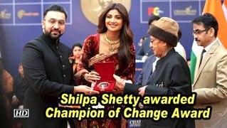 Shilpa Shetty awarded Champion of Change Award